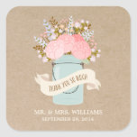 Rustic Flowers | Favor Stickers