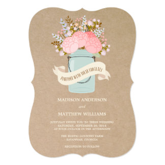 Rustic Flowers | Wedding Invitation