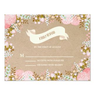 Rustic Flowers | Wedding Response Card