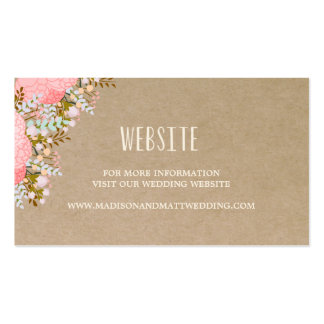 Rustic Flowers | Wedding Website Card Pack Of Standard Business Cards