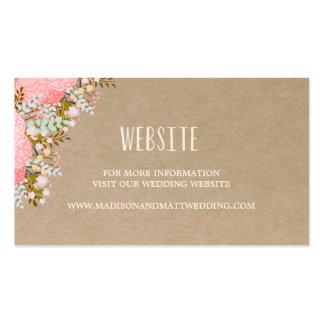 Rustic Flowers | Wedding Website Card Pack Of Standard Business Cards