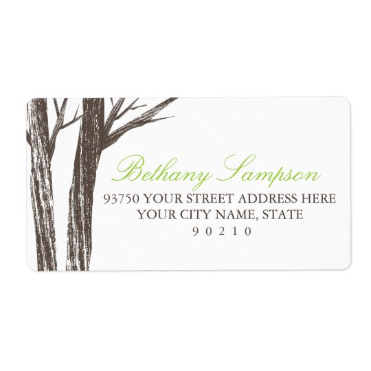 Rustic Forest Address Labels