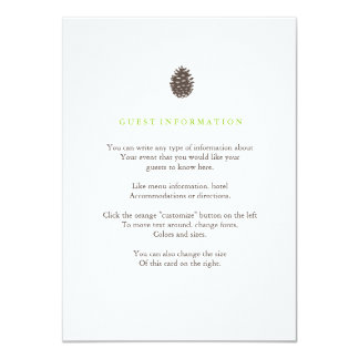 Rustic Forest Wedding Insert Card