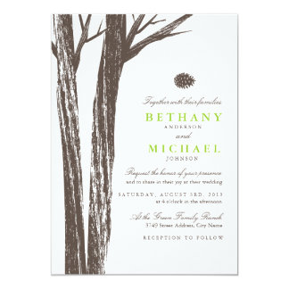 Rustic Forest Wedding Invitation