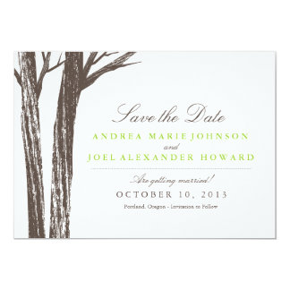 Rustic Forest Wedding Save the Date Card