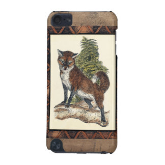 Rustic Fox Stepping on a Tree Trunk iPod Touch 5G Case