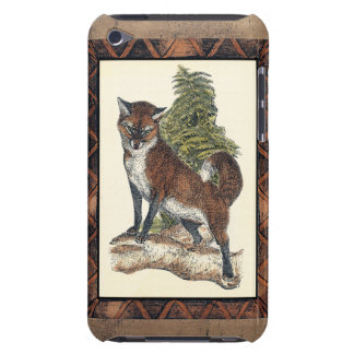 Rustic Fox Stepping on a Tree Trunk iPod Touch Case-Mate Case