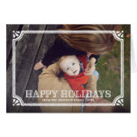 Rustic Frame | Folded Holiday Greeting Card