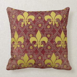 Rustic French country style with fleur de lis Cushion