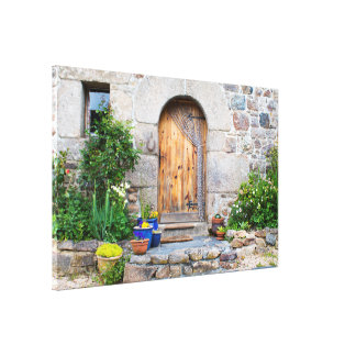Rustic French Gite in Brittany France Canvas Canvas Print