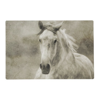 Rustic Galloping Andalusian Horse Laminated Placemat