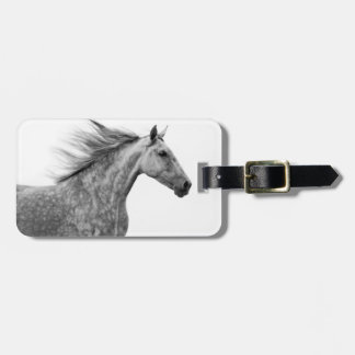Rustic Galloping Andalusian Horse Luggage Tag
