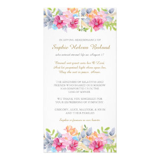 Rustic Garden Funeral Sympathy Thank You Card