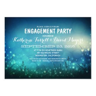 Rustic Garden Lights Romantic Engagement Party 13 Cm X 18 Cm Invitation Card