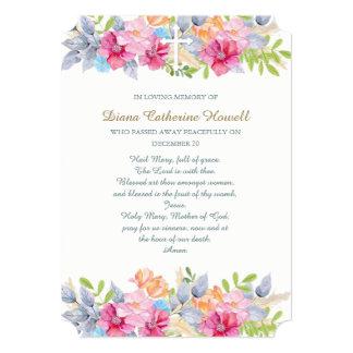 Rustic Garden Sympathy Funeral Thank You Card