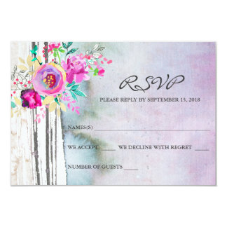 Rustic Garden Watercolor RSVP Cards