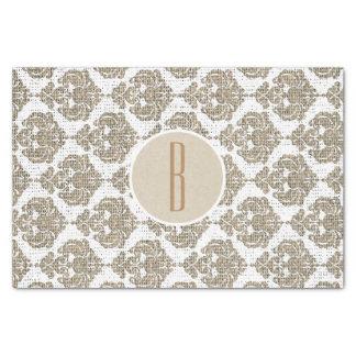 Rustic Glamour Burlap Royal Damask Chic Modern Tissue Paper