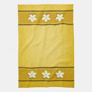 Rustic Gold Floral MoJo Kitchen Tea Towel