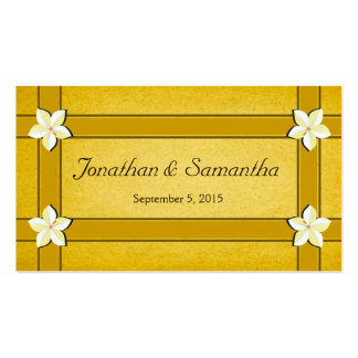 Rustic Gold Floral Wedding Favor Favour Tags Double-Sided Standard Business Cards (Pack Of 100)