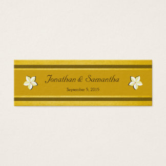 Rustic Gold Floral Wedding Favor Favour Tags Mini Business Card