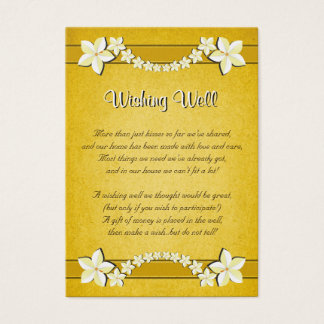Rustic Gold Floral Wedding Wishing Well Cards