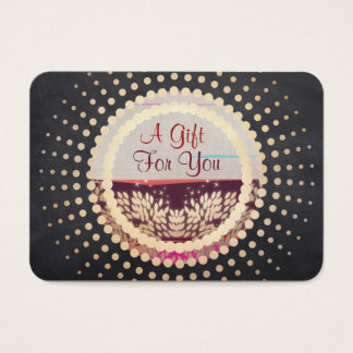 Rustic Gold Framed Horizon Logo Gift Card