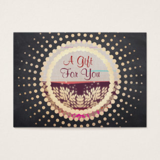 Rustic Gold Framed Horizon Logo Gift Card