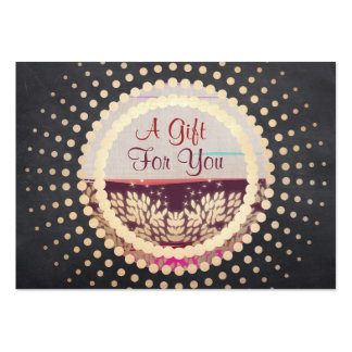 Rustic Gold Framed Horizon Logo Gift Card Pack Of Chubby Business Cards