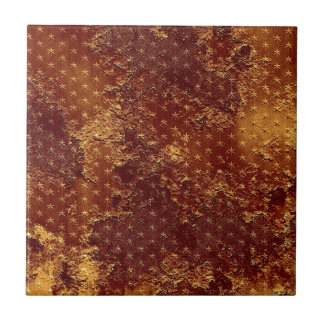 Rustic Gold Stars Pattern Ceramic Tile