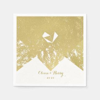 Rustic Gold Vintage Glam Wedding Napkins Paper Serviettes