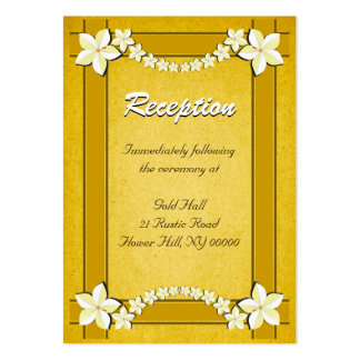 Rustic Gold Wedding Reception Enclosure Cards Business Card Template