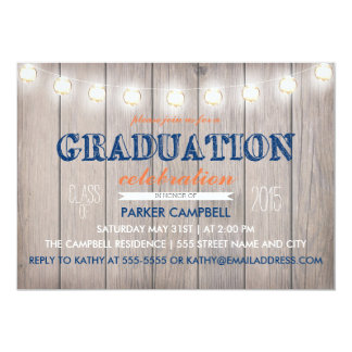 Rustic Graduation Celebration Invite