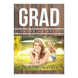 Rustic Graduation Photo Announcement