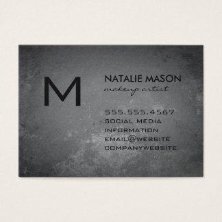Rustic Gray Monogram Business Card