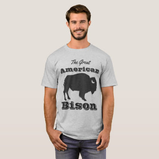 Rustic Great American Bison T-Shirt