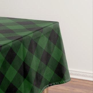 Rustic Green and Black Buffalo Plaid Tablecloth
