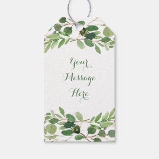 Rustic Green Floral Baby Shower Gift Tags