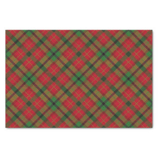 Rustic Green Red Christmas Holiday Tartan Plaid Tissue Paper