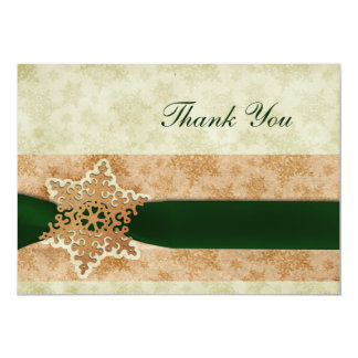 rustic green winter wedding Thank You Personalized Invitation