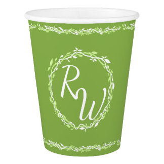 Rustic Greenery | Wedding Backyard Picnic BBQ Paper Cup