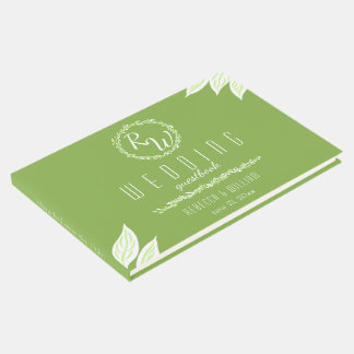 Rustic Greenery | Wedding Vine Botanical Motif Guest Book