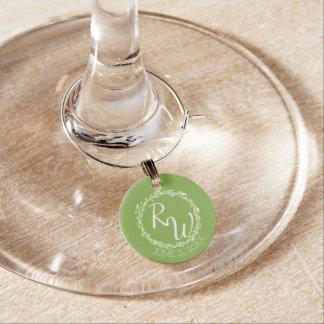 Rustic Greenery | Wedding Vine Foliage Favors Wine Glass Charms