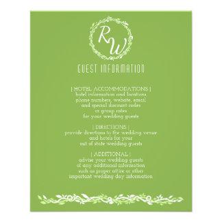 Rustic Greenery | Wedding Vine Guest Information 11.5 Cm X 14 Cm Flyer