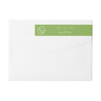 Rustic Greenery | Wedding Vine Monogram Suite Wrap Around Label