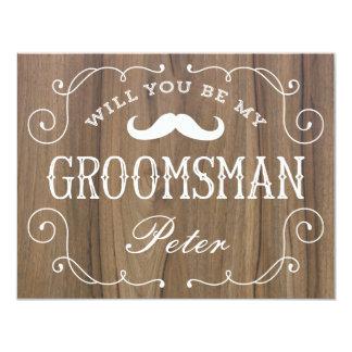 Rustic Groomsman | Groomsmen Card