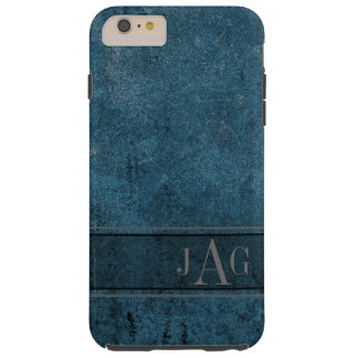 Rustic Grunge Blue Book Design Tough iPhone 6 Plus Case