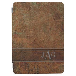 Rustic Grunge Brown Book Design iPad Air Cover