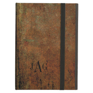 Rustic Grunge Brown Leather Look Case For iPad Air
