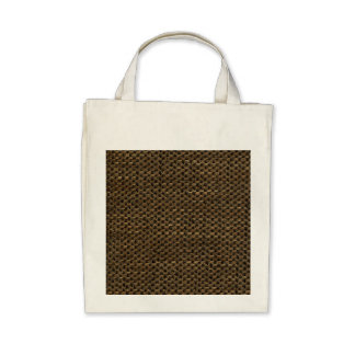 Rustic Grunge Burlap Texture Tote Bags