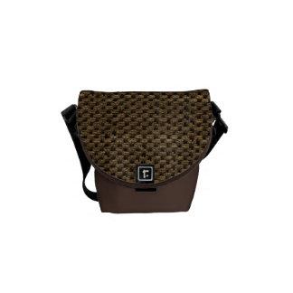 Rustic Grunge Burlap Texture Messenger Bags